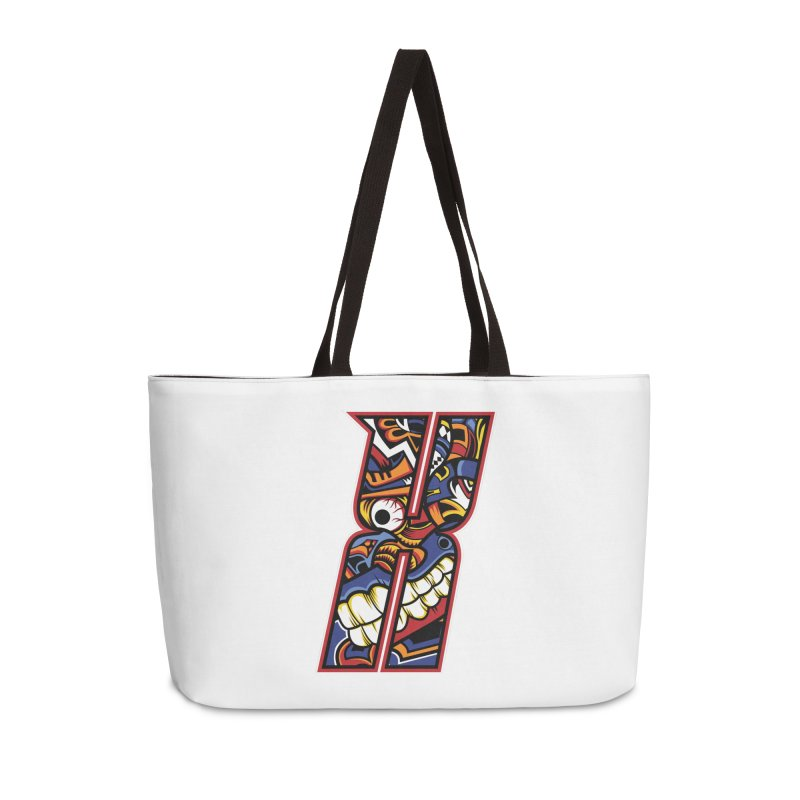 Crazy Face_X003 Accessories Weekender Bag Bag by Art of Yaky Artist Shop