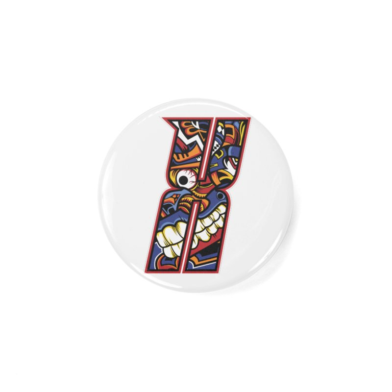 Crazy Face Alphabet (X) Accessories Button by Yaky's Customs