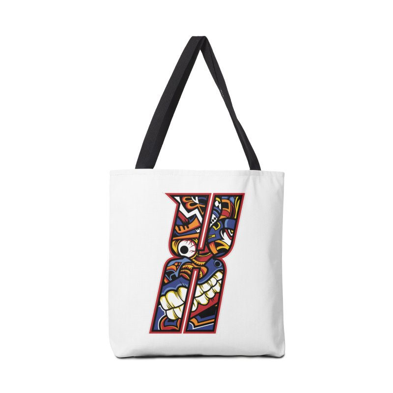 Crazy Face_X003 Accessories Tote Bag Bag by Art of Yaky Artist Shop