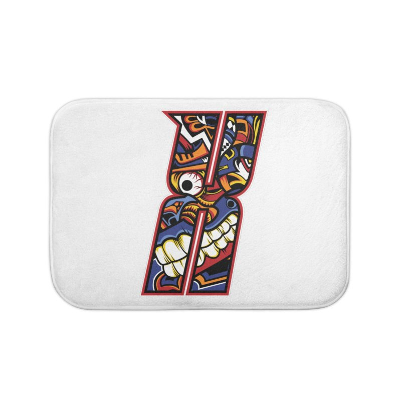 Crazy Face Alphabet (X) Home Bath Mat by Yaky's Customs