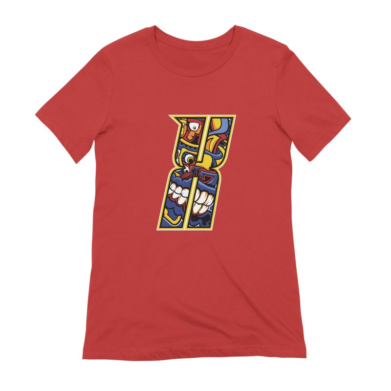 Crazy Face_X004 Women's Extra Soft T-Shirt by Art of Yaky Artist Shop