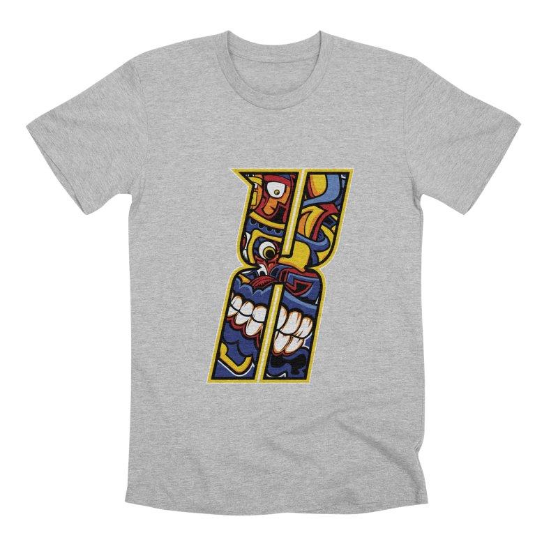 Crazy Face_X004 Men's Premium T-Shirt by Art of Yaky Artist Shop