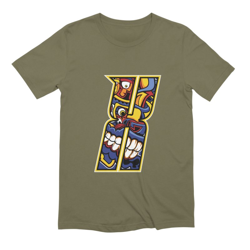 Crazy Face_X004 Men's Extra Soft T-Shirt by Art of Yaky Artist Shop