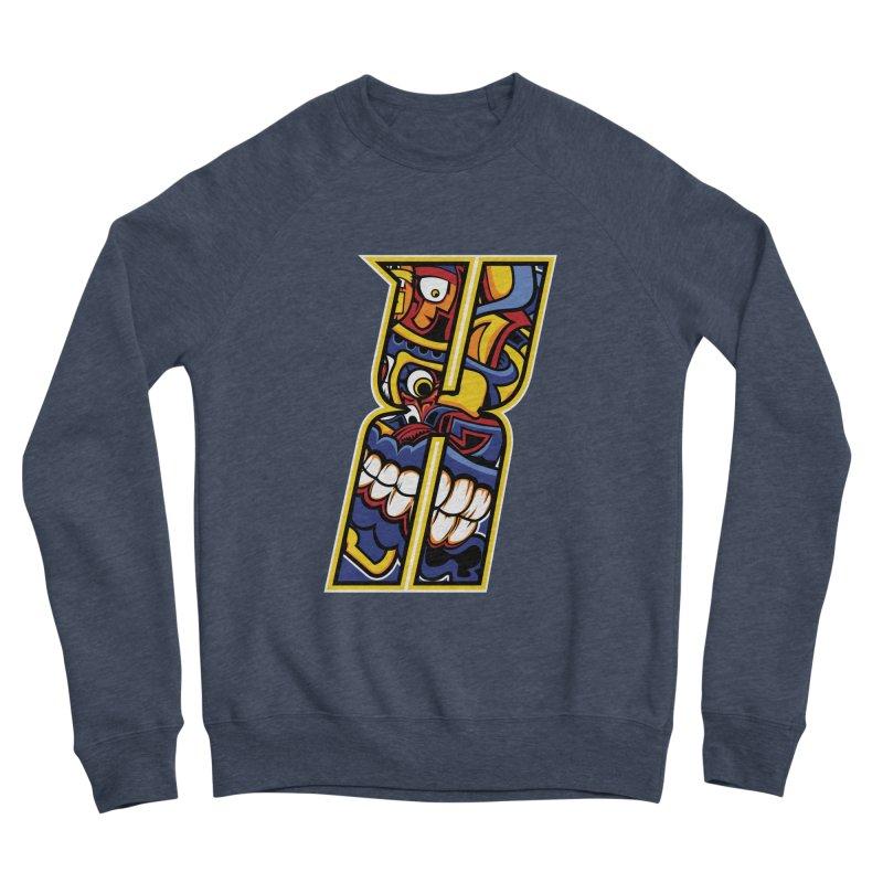 Crazy Face_X004 Men's Sponge Fleece Sweatshirt by Art of Yaky Artist Shop