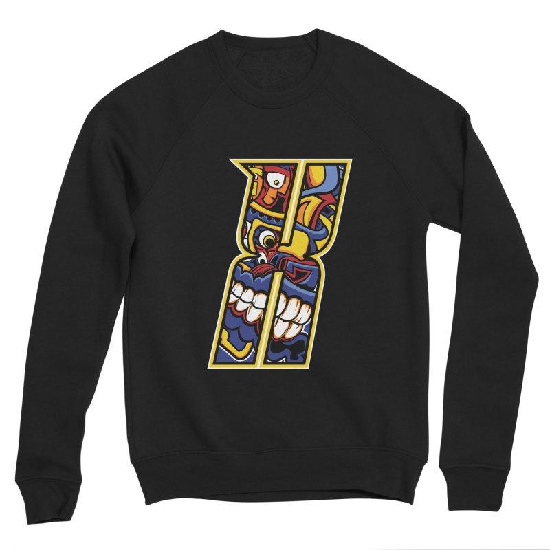 Crazy Face_X004 Women's Sponge Fleece Sweatshirt by Art of Yaky Artist Shop