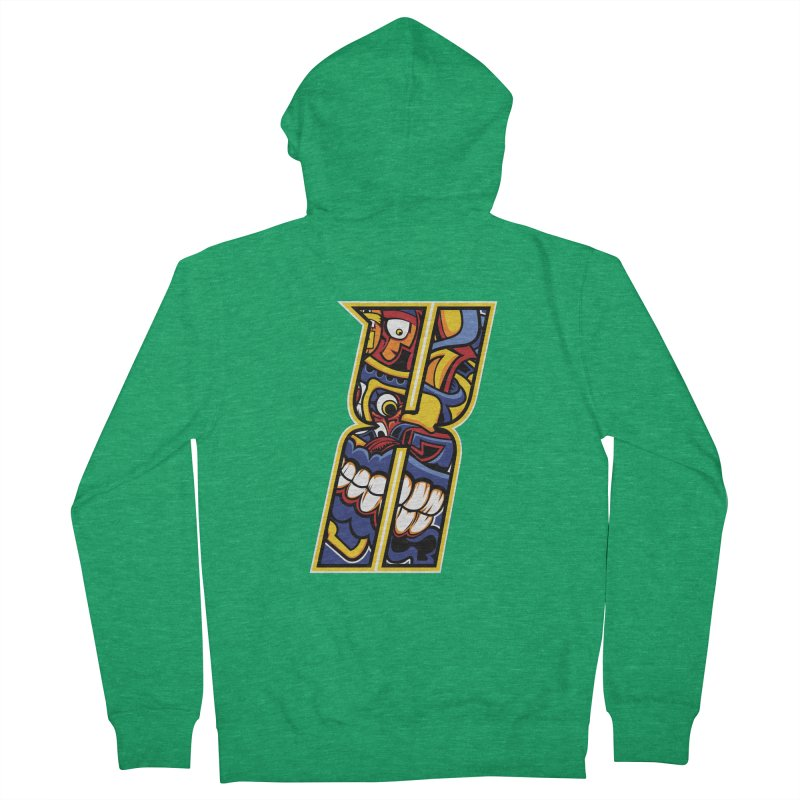 Crazy Face_X004 Women's Zip-Up Hoody by Art of Yaky Artist Shop