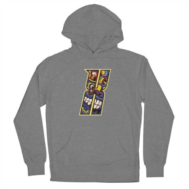 Crazy Face Alphabet (X) Women's Pullover Hoody by Yaky's Customs