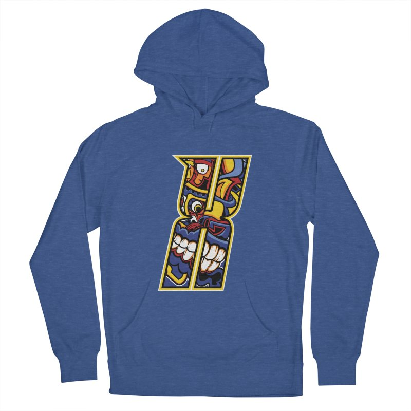 Crazy Face_X004 Women's French Terry Pullover Hoody by Art of Yaky Artist Shop