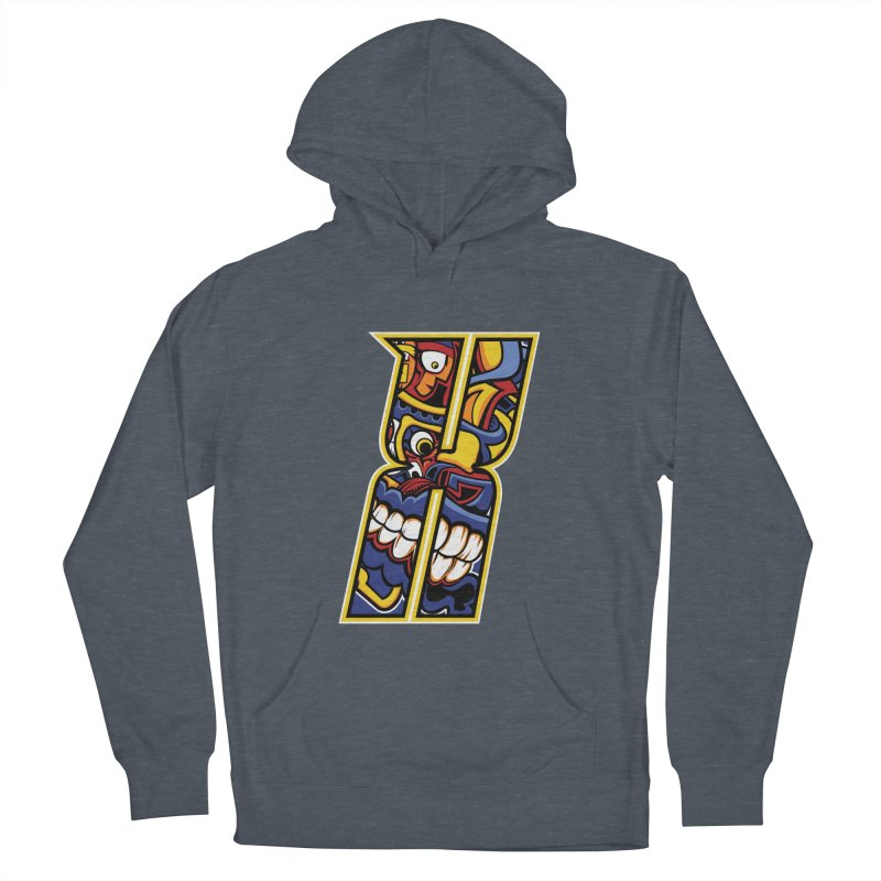 Crazy Face_X004 Men's Pullover Hoody by Art of Yaky Artist Shop