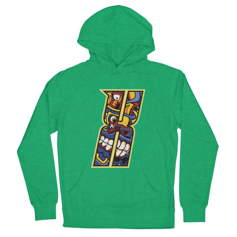 Crazy Face_X004 Men's French Terry Pullover Hoody by Art of Yaky Artist Shop