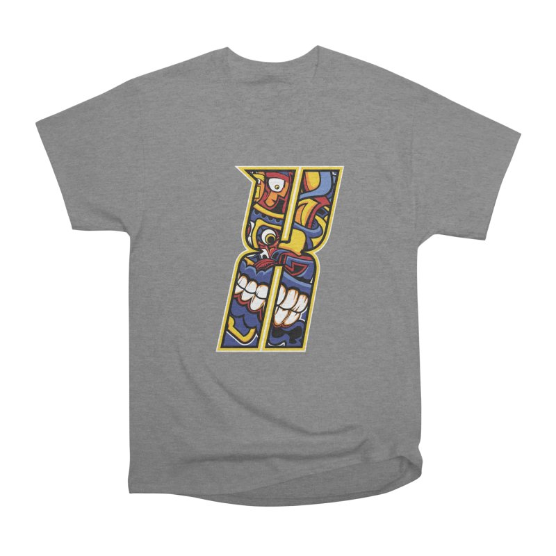 Crazy Face_X004 Men's Heavyweight T-Shirt by Art of Yaky Artist Shop