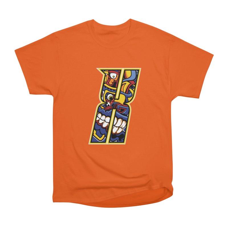 Crazy Face_X004 Women's Heavyweight Unisex T-Shirt by Art of Yaky Artist Shop