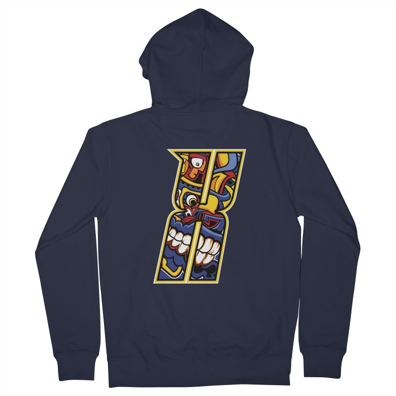 Crazy Face_X004 Women's French Terry Zip-Up Hoody by Art of Yaky Artist Shop