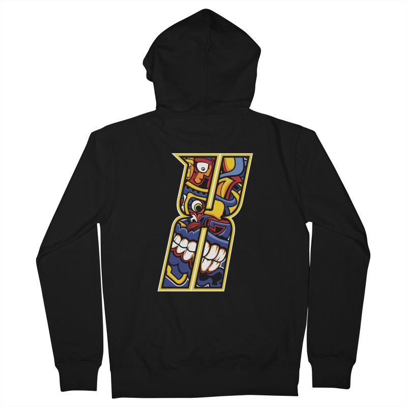 Crazy Face_X004 Men's Zip-Up Hoody by Art of Yaky Artist Shop