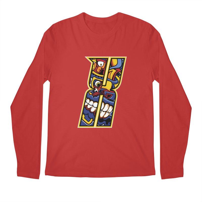 Crazy Face_X004 Men's Regular Longsleeve T-Shirt by Art of Yaky Artist Shop