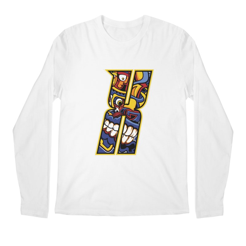 Crazy Face_X004 Men's Longsleeve T-Shirt by Art of Yaky Artist Shop