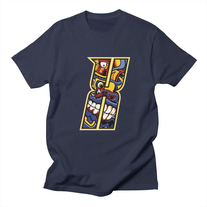 Crazy Face_X004 Men's Regular T-Shirt by Art of Yaky Artist Shop