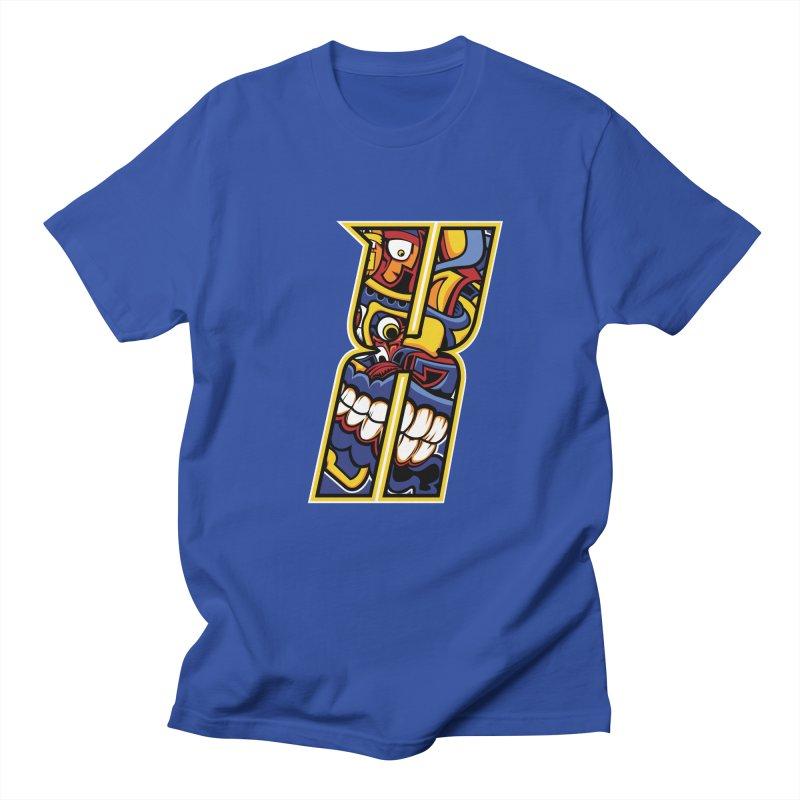 Crazy Face_X004 Men's T-Shirt by Art of Yaky Artist Shop