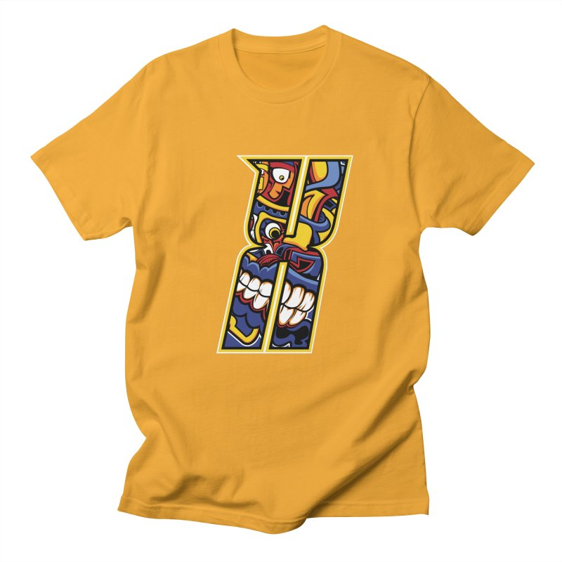 Crazy Face_X004 Women's Regular Unisex T-Shirt by Art of Yaky Artist Shop