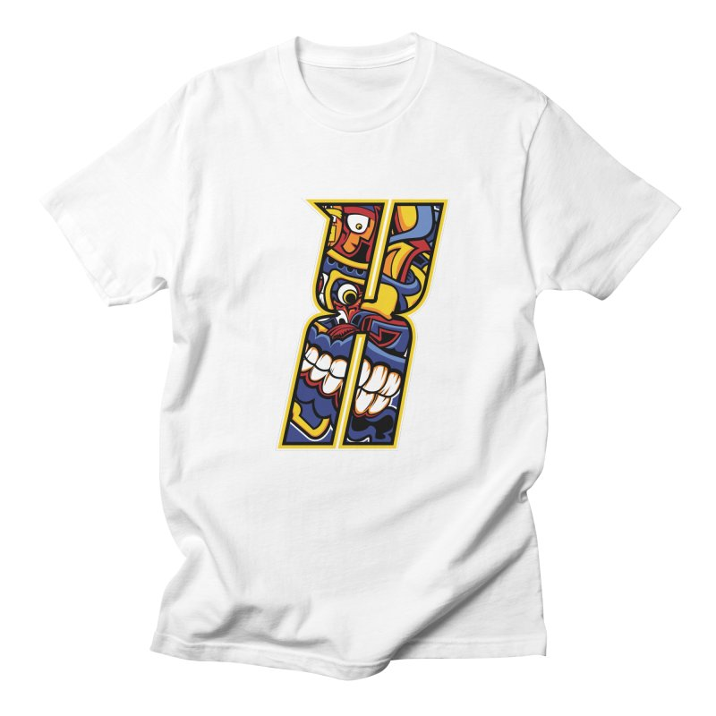 Crazy Face_X004 Men's T-Shirt by Art of Yaky Artist Shop