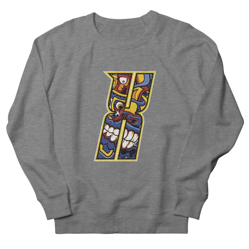 Crazy Face_X004 Women's French Terry Sweatshirt by Art of Yaky Artist Shop