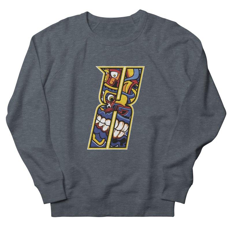 Crazy Face_X004 Men's French Terry Sweatshirt by Art of Yaky Artist Shop