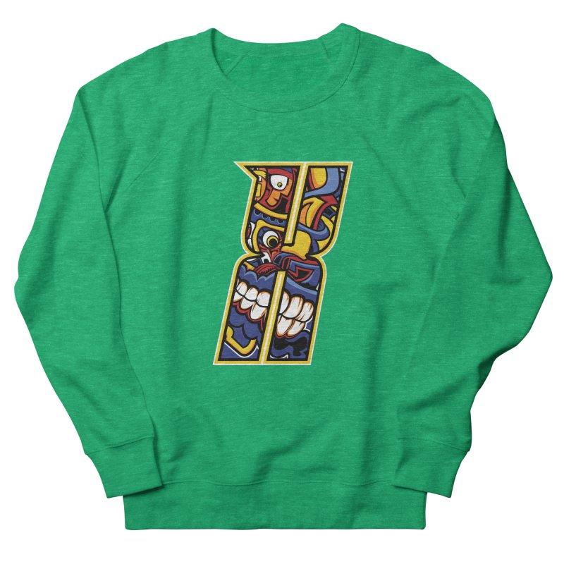 Crazy Face_X004 Men's Sweatshirt by Art of Yaky Artist Shop