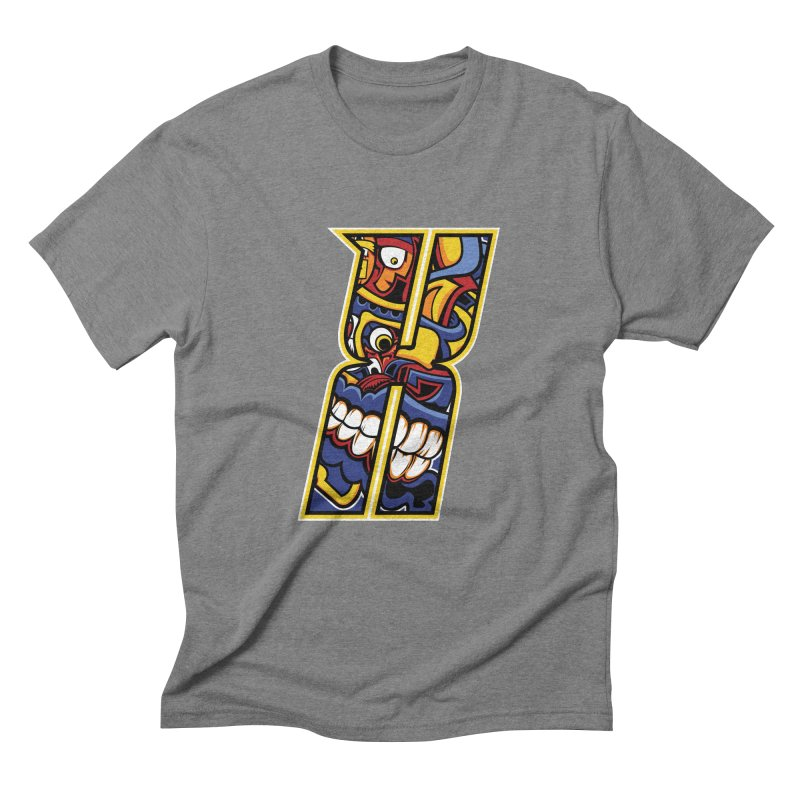 Crazy Face_X004 Men's Triblend T-Shirt by Art of Yaky Artist Shop