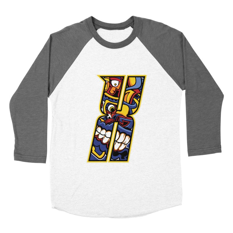 Crazy Face_X004 Women's Longsleeve T-Shirt by Art of Yaky Artist Shop
