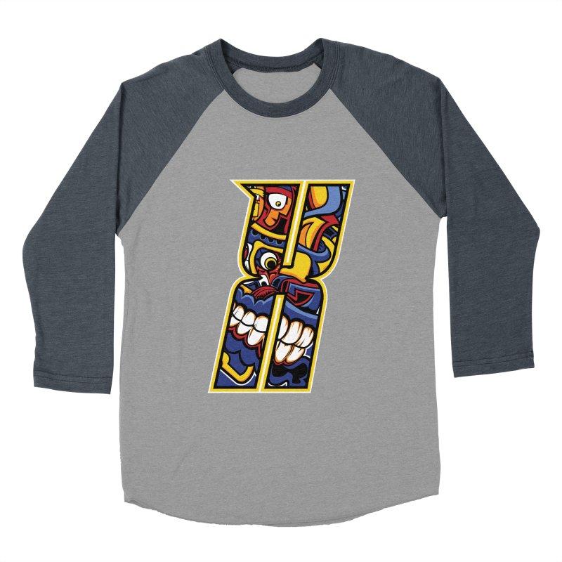 Crazy Face_X004 Women's Baseball Triblend Longsleeve T-Shirt by Art of Yaky Artist Shop