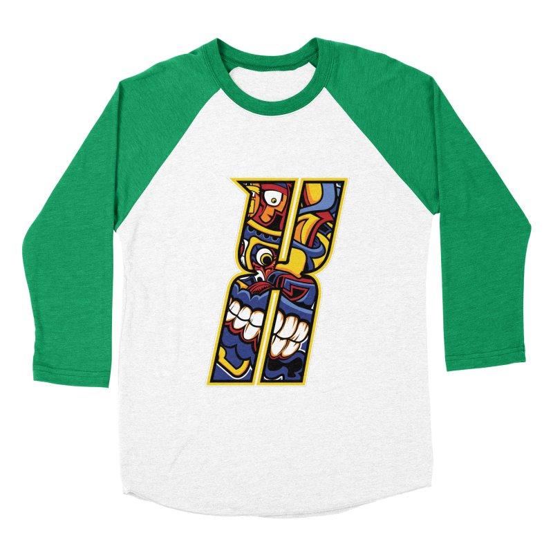 Crazy Face_X004 Men's Baseball Triblend Longsleeve T-Shirt by Art of Yaky Artist Shop