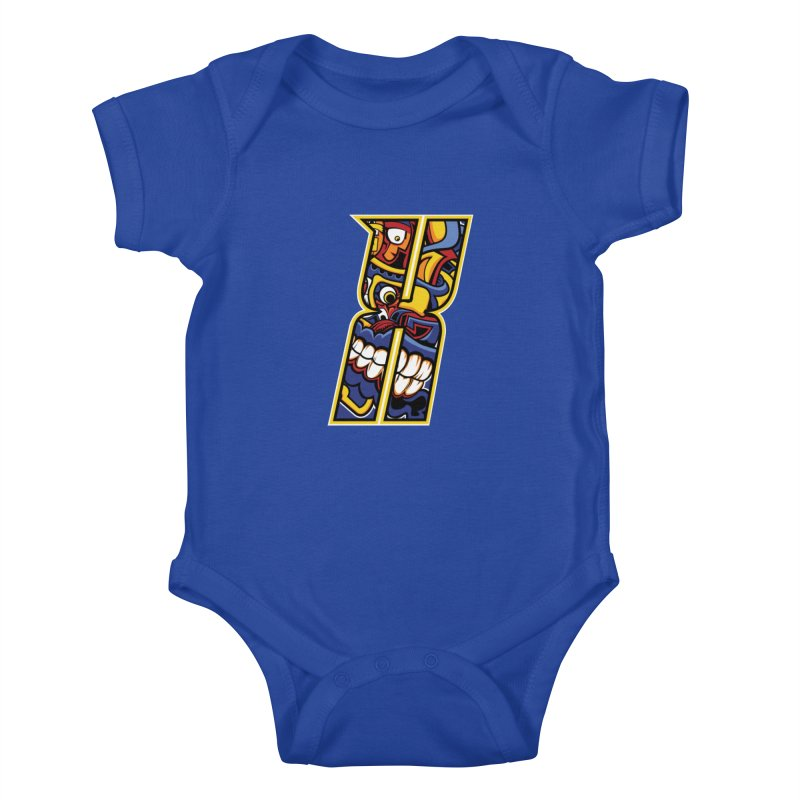 Crazy Face_X004 Kids Baby Bodysuit by Art of Yaky Artist Shop