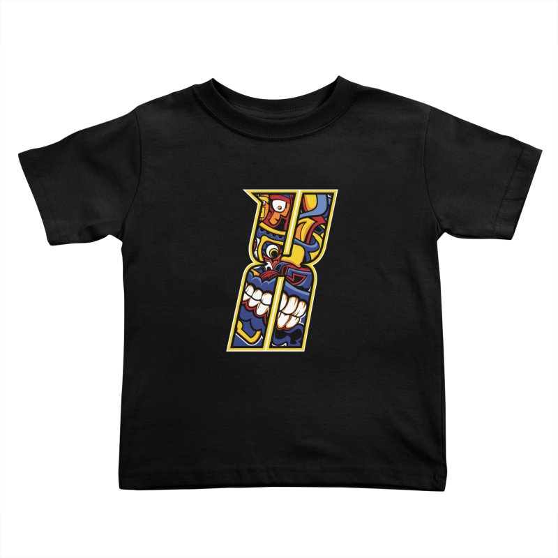 Crazy Face_X004 Kids Toddler T-Shirt by Art of Yaky Artist Shop
