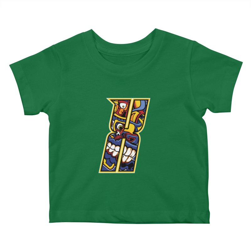 Crazy Face_X004 Kids Baby T-Shirt by Art of Yaky Artist Shop