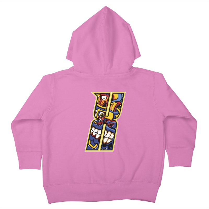 Crazy Face_X004 Kids Toddler Zip-Up Hoody by Art of Yaky Artist Shop