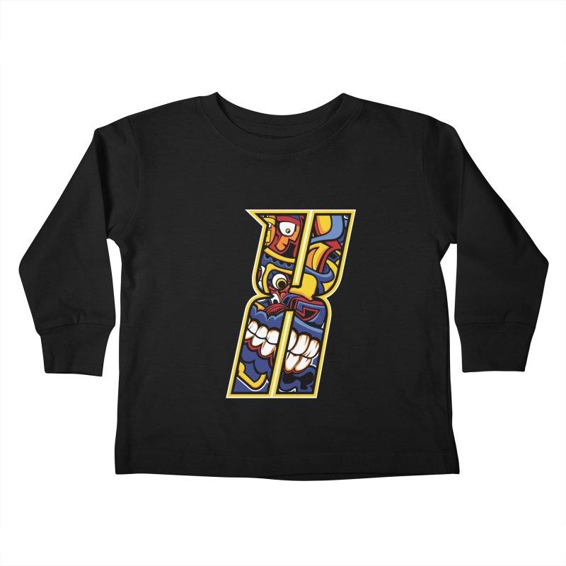 Crazy Face Alphabet (X) Kids Toddler Longsleeve T-Shirt by Yaky's Customs