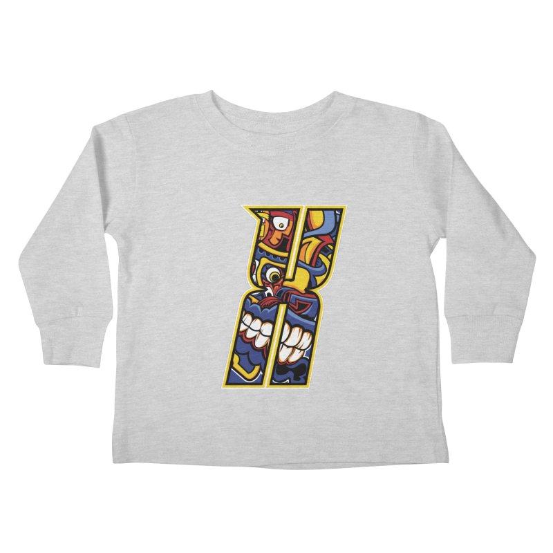 Crazy Face_X004 Kids Toddler Longsleeve T-Shirt by Art of Yaky Artist Shop