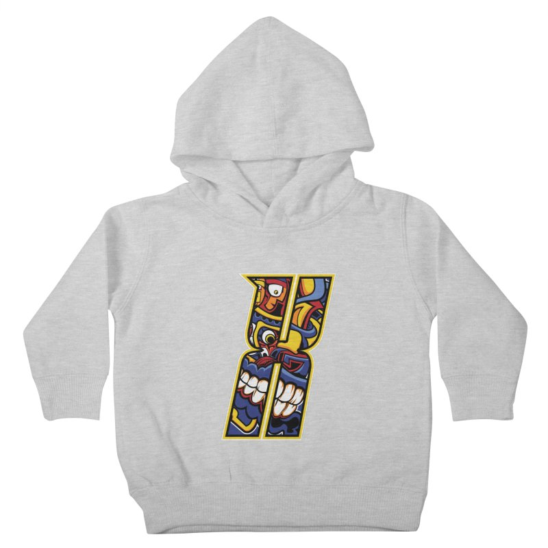 Crazy Face_X004 Kids Toddler Pullover Hoody by Art of Yaky Artist Shop