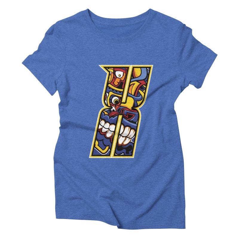 Crazy Face_X004 Women's T-Shirt by Art of Yaky Artist Shop