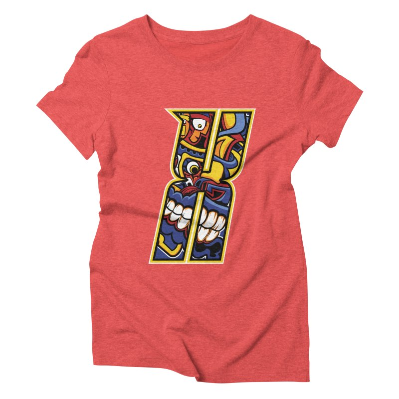 Crazy Face_X004 Women's Triblend T-Shirt by Art of Yaky Artist Shop