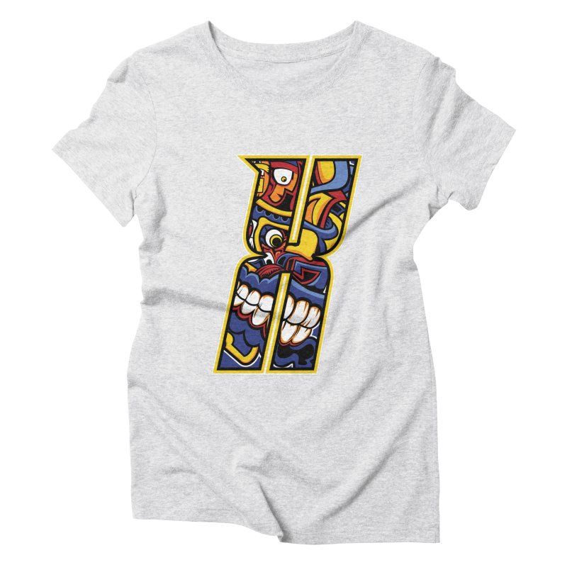 Crazy Face_X004 Women's Triblend T-Shirt by Art of Yaky Artist Shop