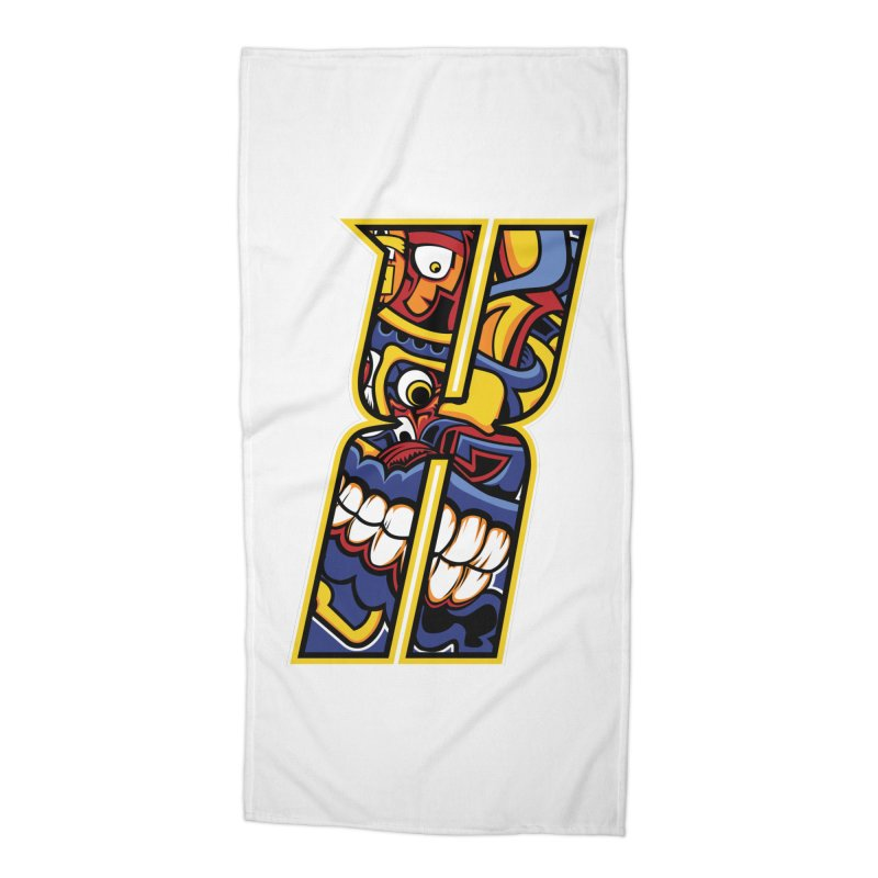 Crazy Face_X004 Accessories Beach Towel by Art of Yaky Artist Shop