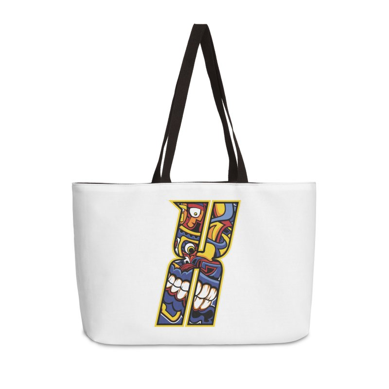 Crazy Face_X004 Accessories Bag by Art of Yaky Artist Shop