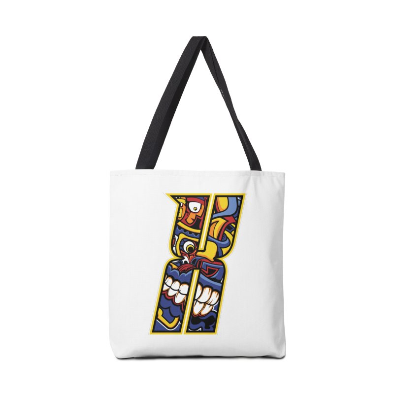 Crazy Face_X004 Accessories Tote Bag Bag by Art of Yaky Artist Shop