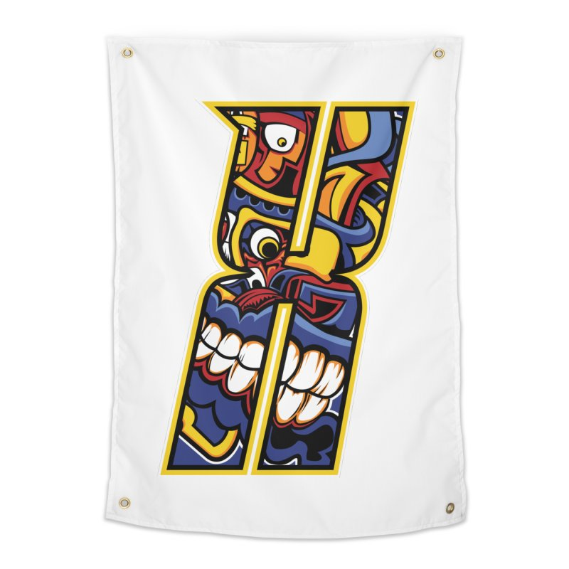 Crazy Face Alphabet (X) Home Tapestry by Yaky's Customs