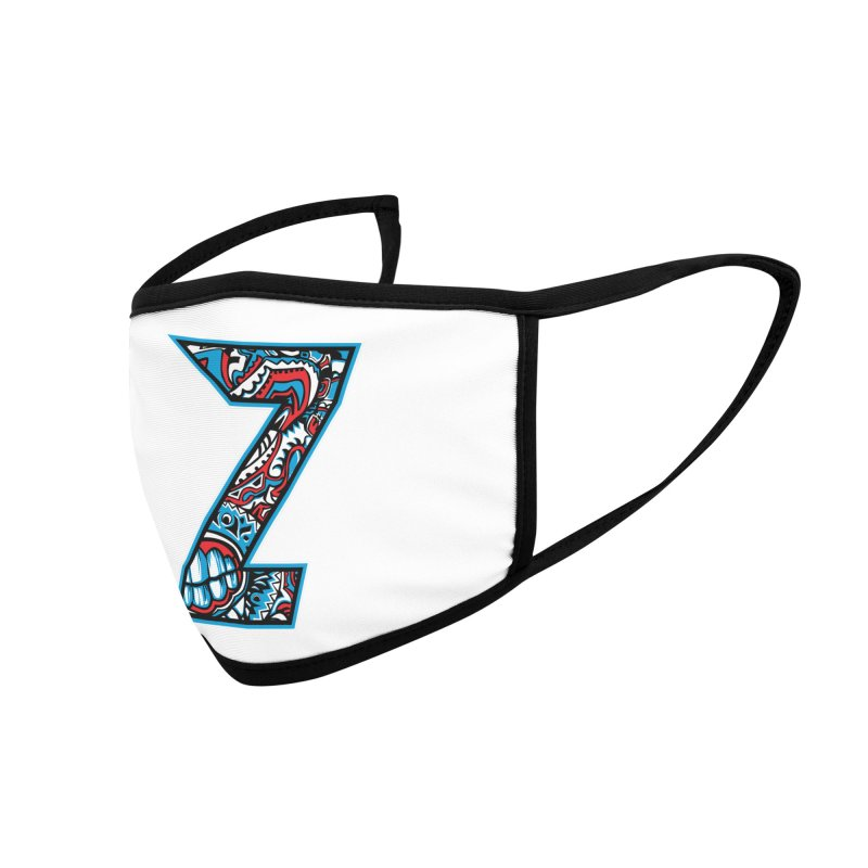 Crazy Face Alphabet (Z) Accessories Face Mask by Yaky's Customs