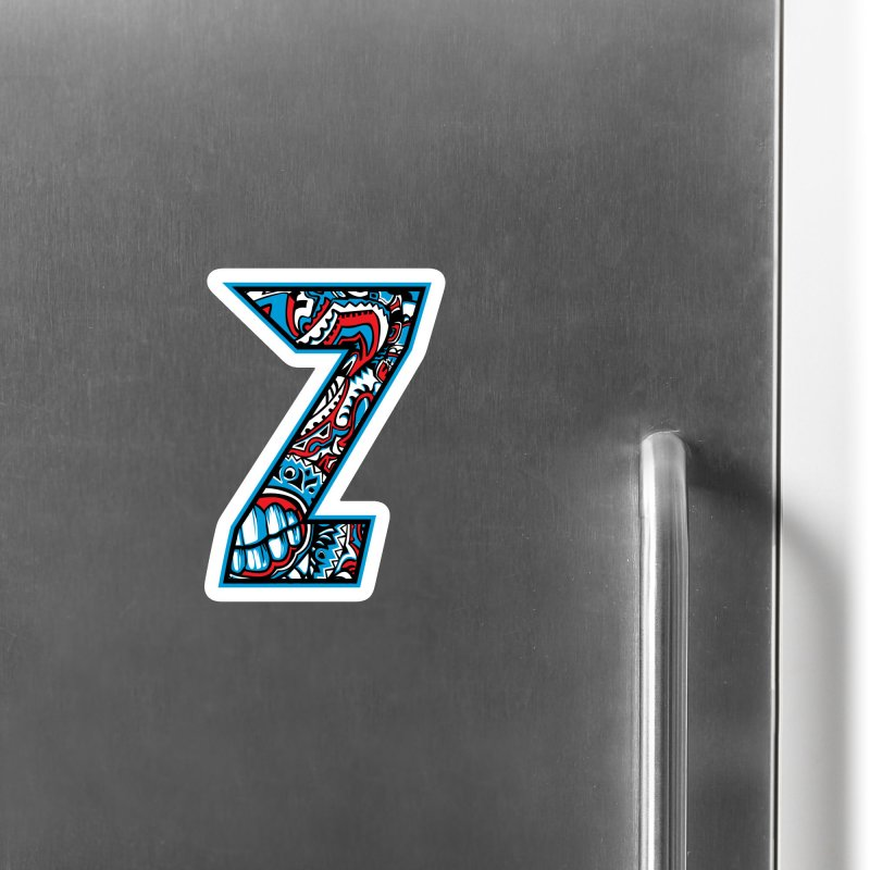 Crazy Face Alphabet (Z) Accessories Magnet by Yaky's Customs