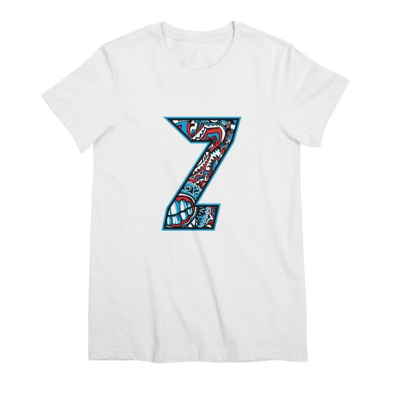 Crazy Face_Z001 Women's Premium T-Shirt by Art of Yaky Artist Shop