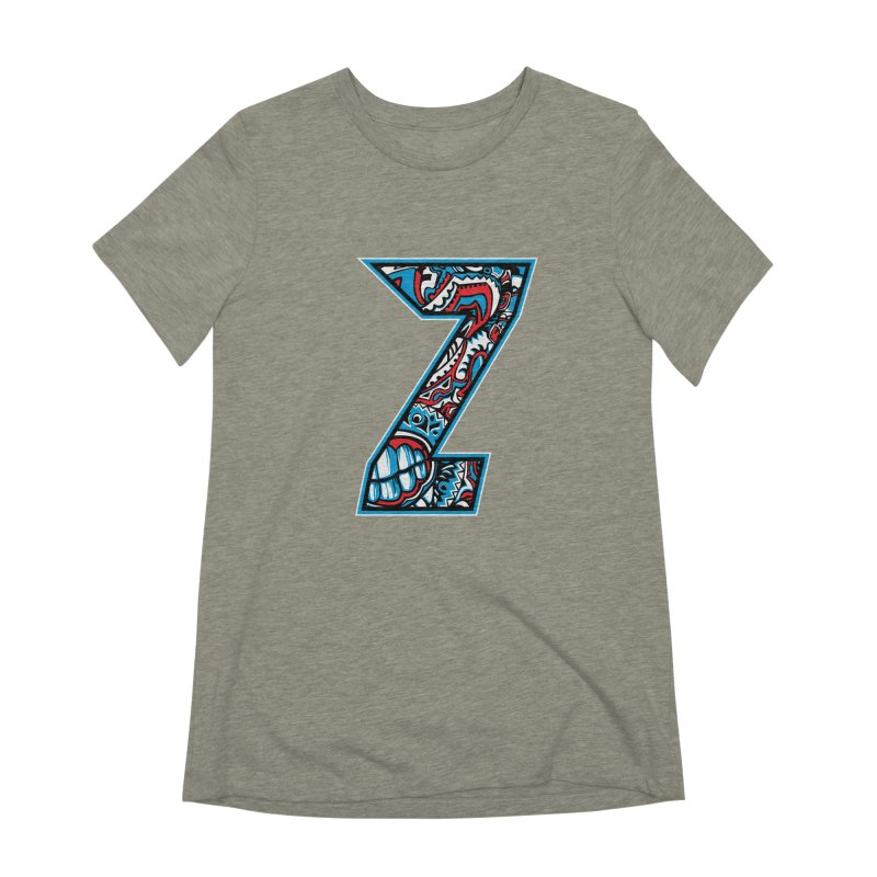 Crazy Face_Z001 Women's Extra Soft T-Shirt by Art of Yaky Artist Shop
