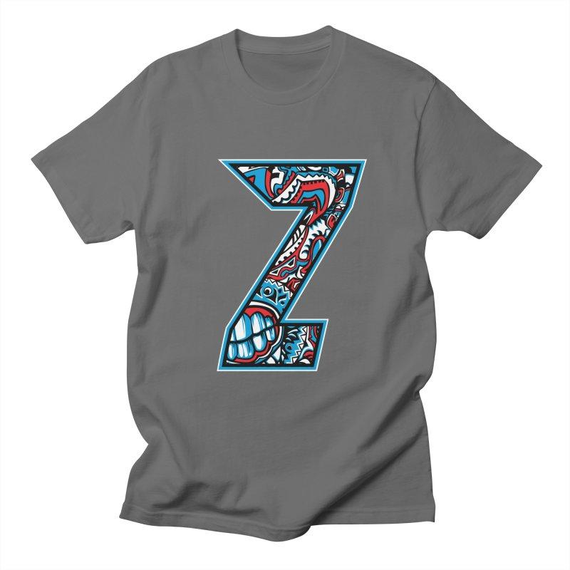 Crazy Face Alphabet (Z) Men's T-Shirt by Yaky's Customs